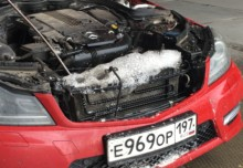 Чистка радиатора Mercedes
